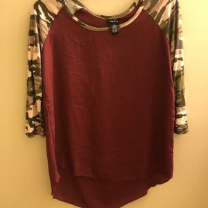 Camo red top